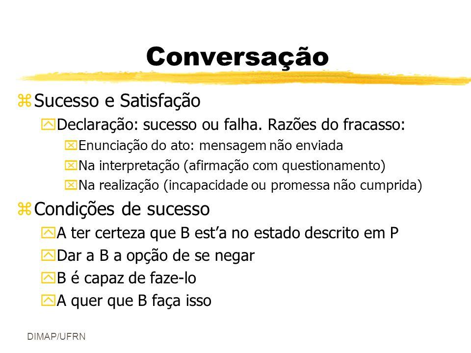 Conversação Sucesso e Satisfação Condições de sucesso