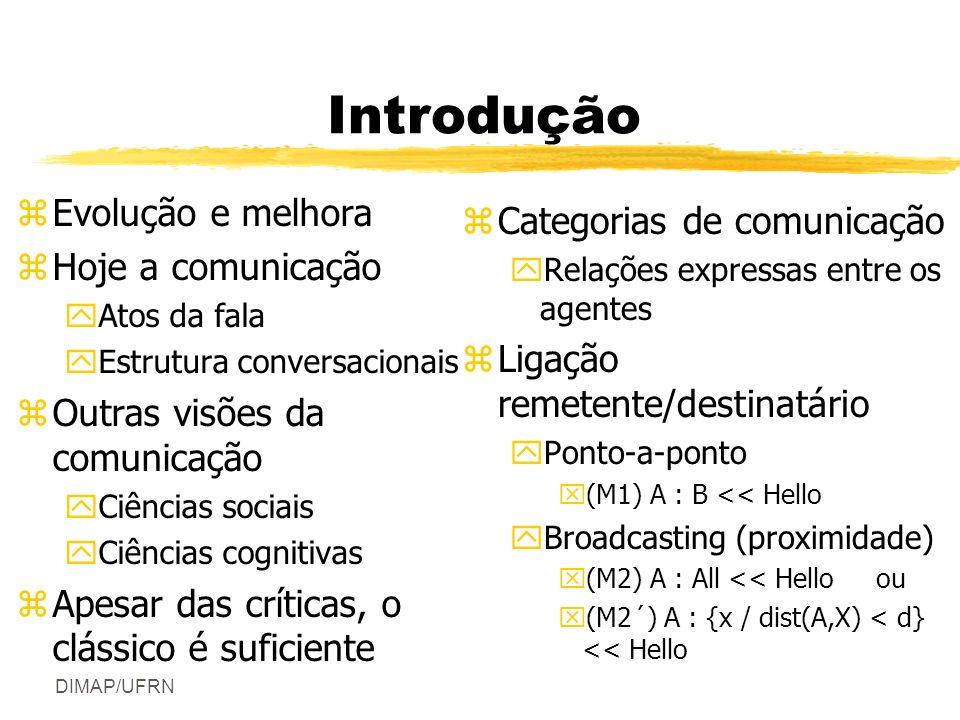 Introdução Evolução e melhora Categorias de comunicação
