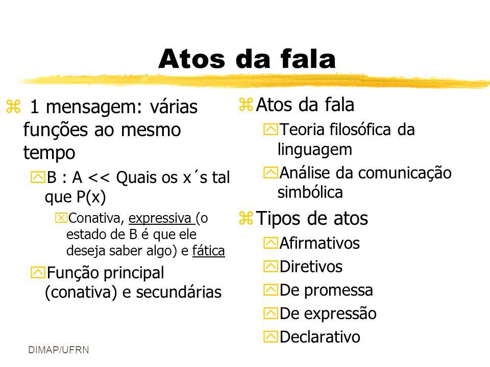 Atos da fala Atos da fala 1 mensagem: várias funções ao mesmo tempo