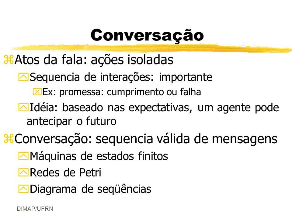 Conversação Atos da fala: ações isoladas
