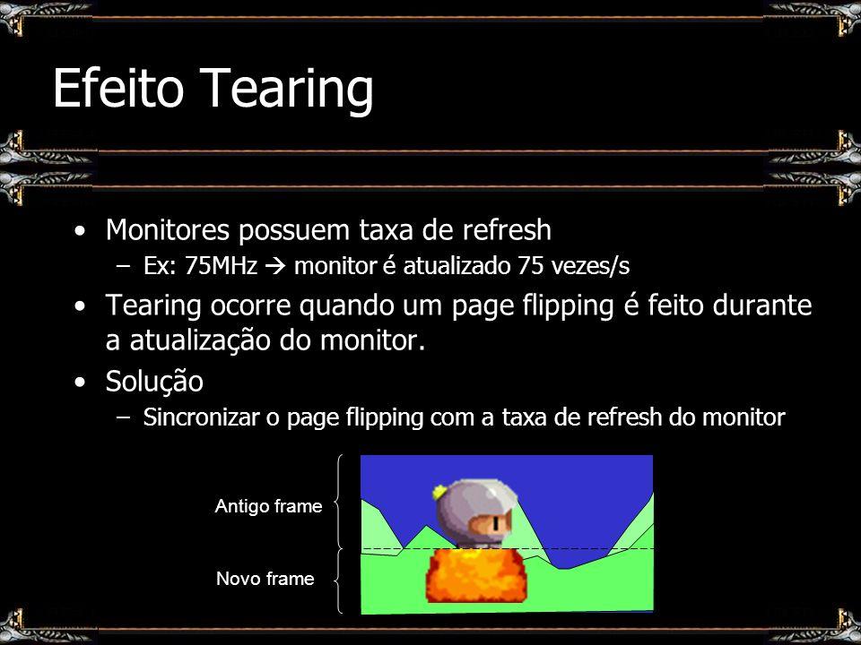Efeito Tearing Monitores possuem taxa de refresh