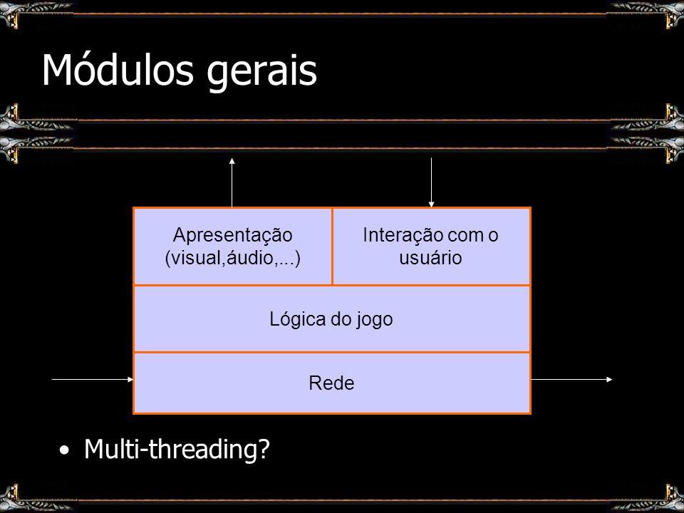 Módulos gerais Multi-threading Apresentação (visual,áudio,...)