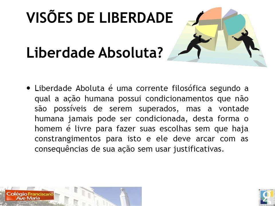 VISÕES DE LIBERDADE Liberdade Absoluta