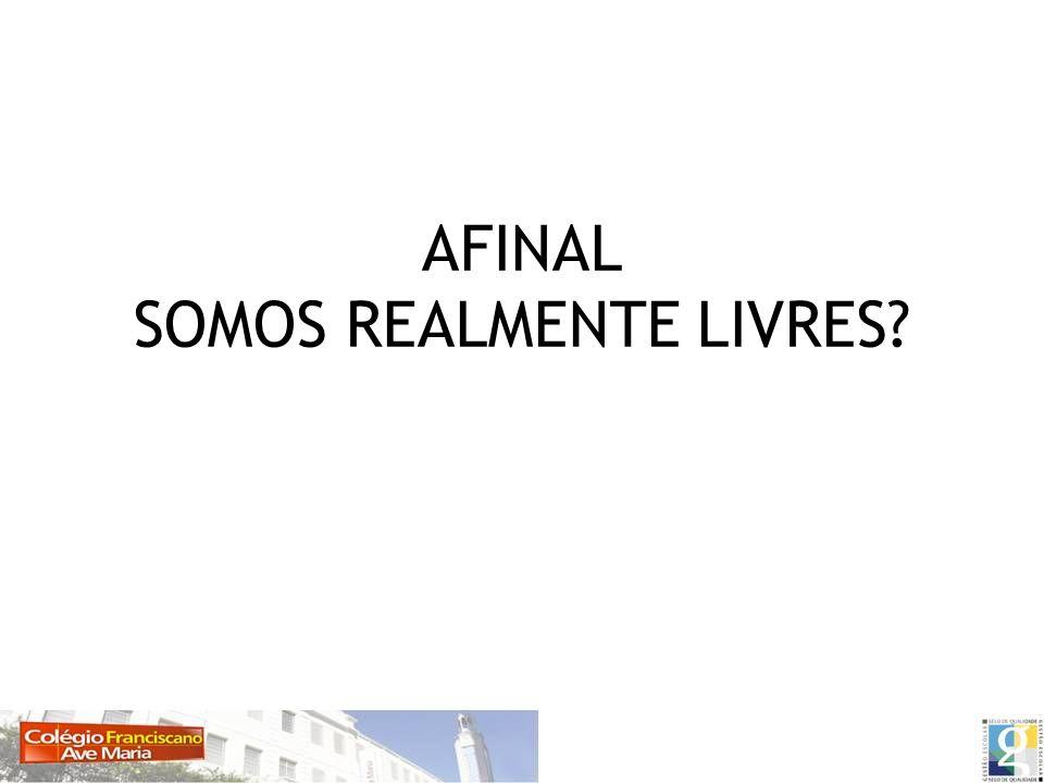AFINAL SOMOS REALMENTE LIVRES