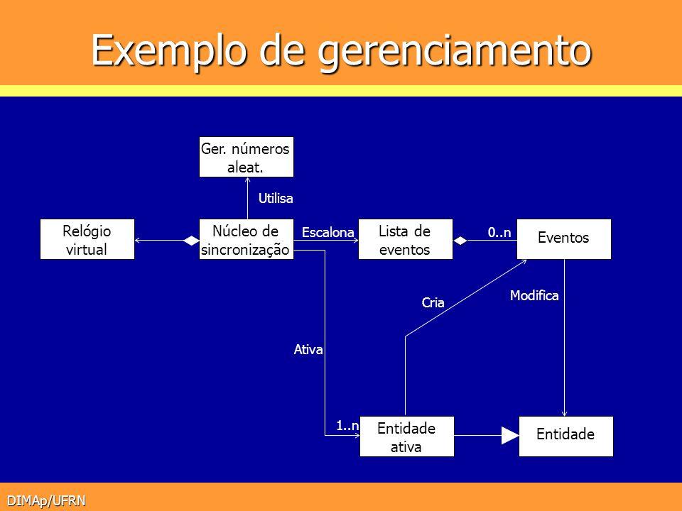 Exemplo de gerenciamento