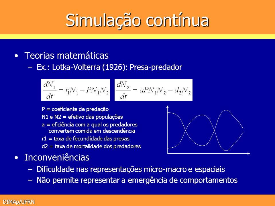 Simulação contínua Teorias matemáticas Inconveniências