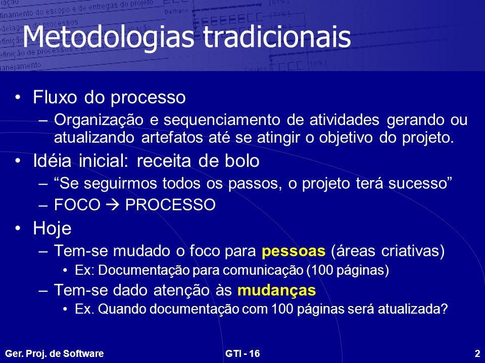 Metodologias tradicionais