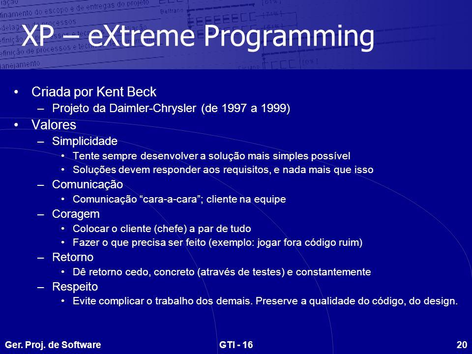 XP – eXtreme Programming