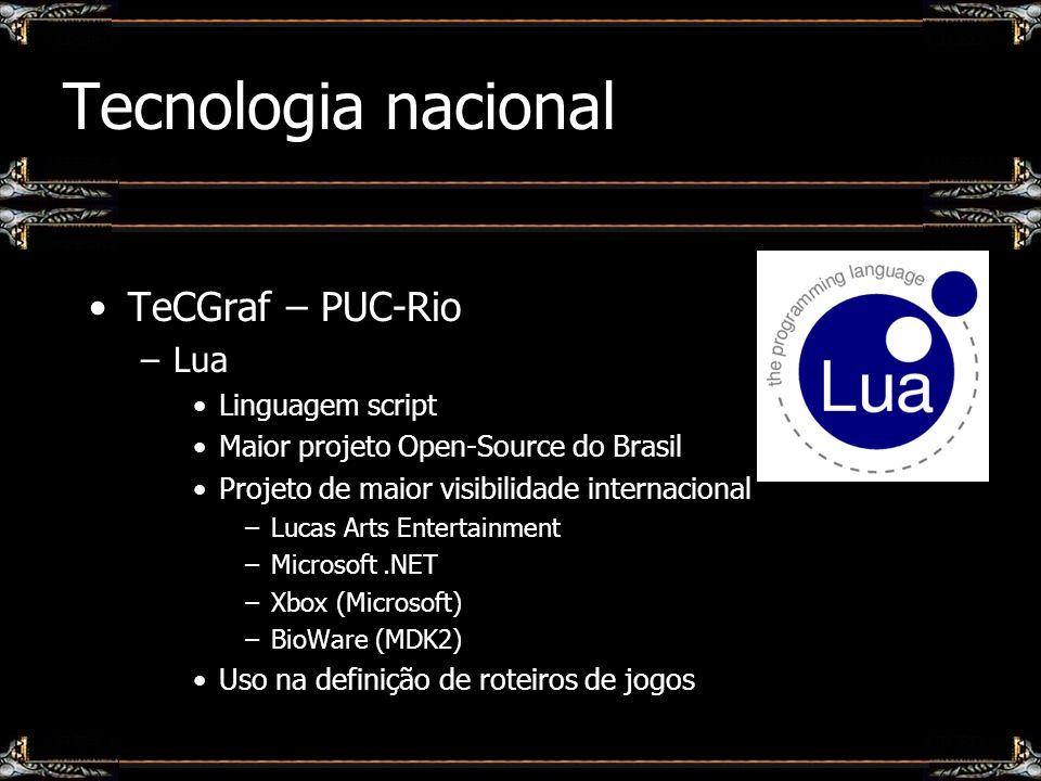 Tecnologia nacional TeCGraf – PUC-Rio Lua Linguagem script
