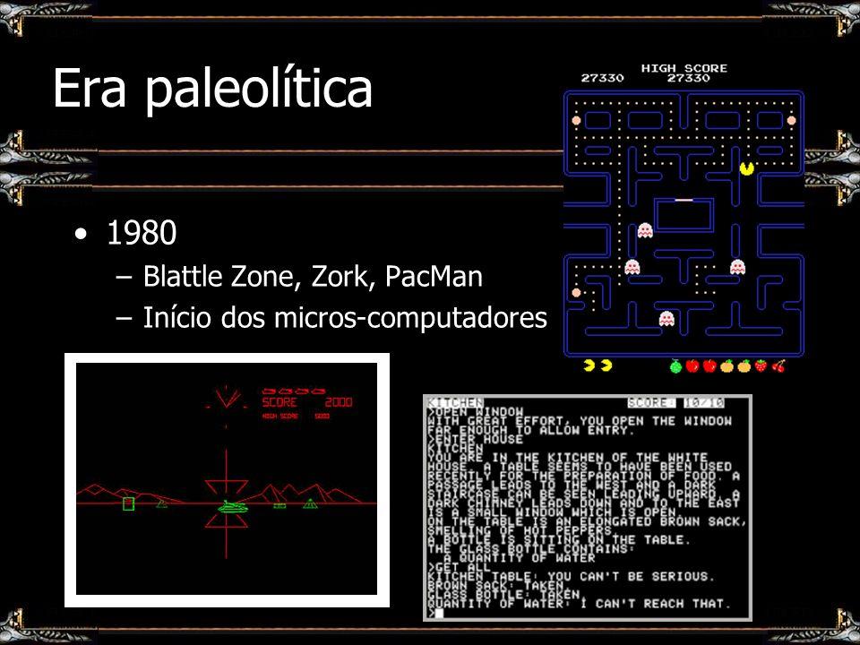 Era paleolítica 1980 Blattle Zone, Zork, PacMan