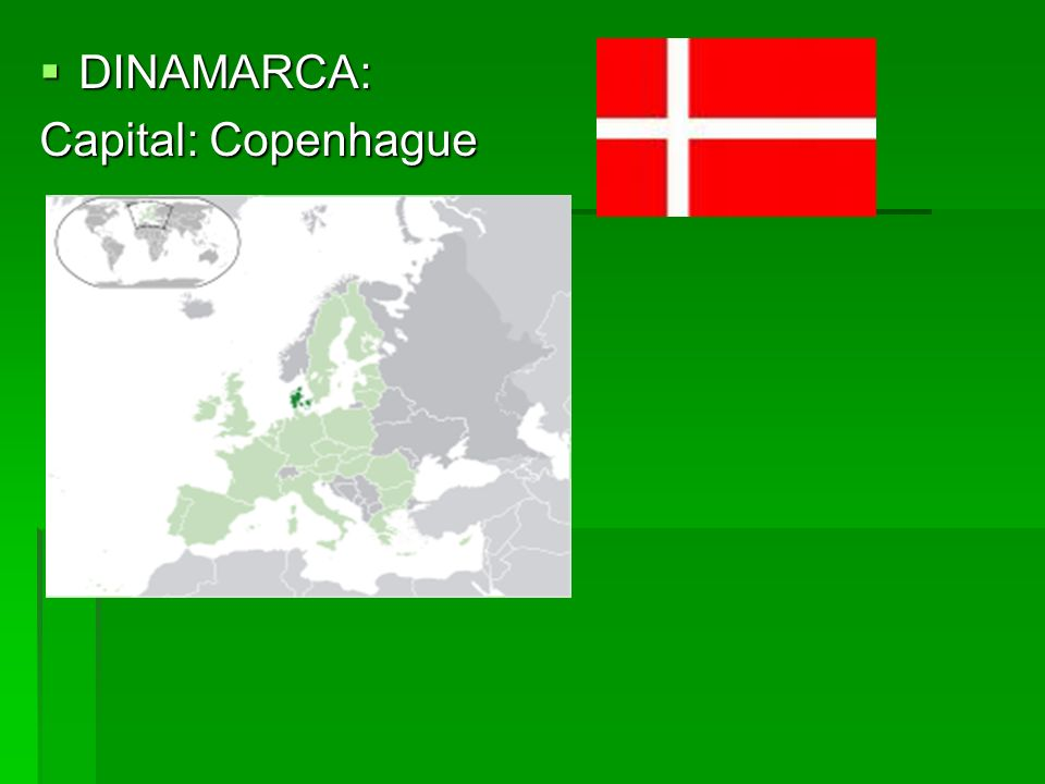 DINAMARCA: Capital: Copenhague