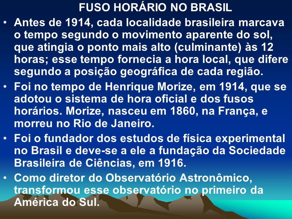 FUSO HORÁRIO NO BRASIL