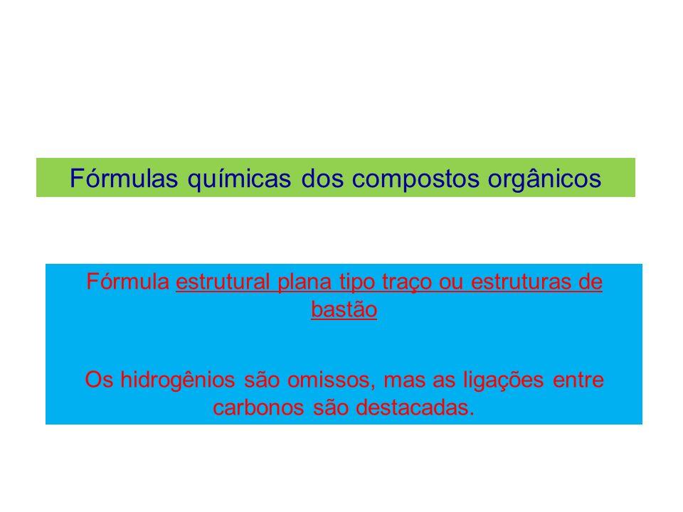 Fórmulas químicas dos compostos orgânicos