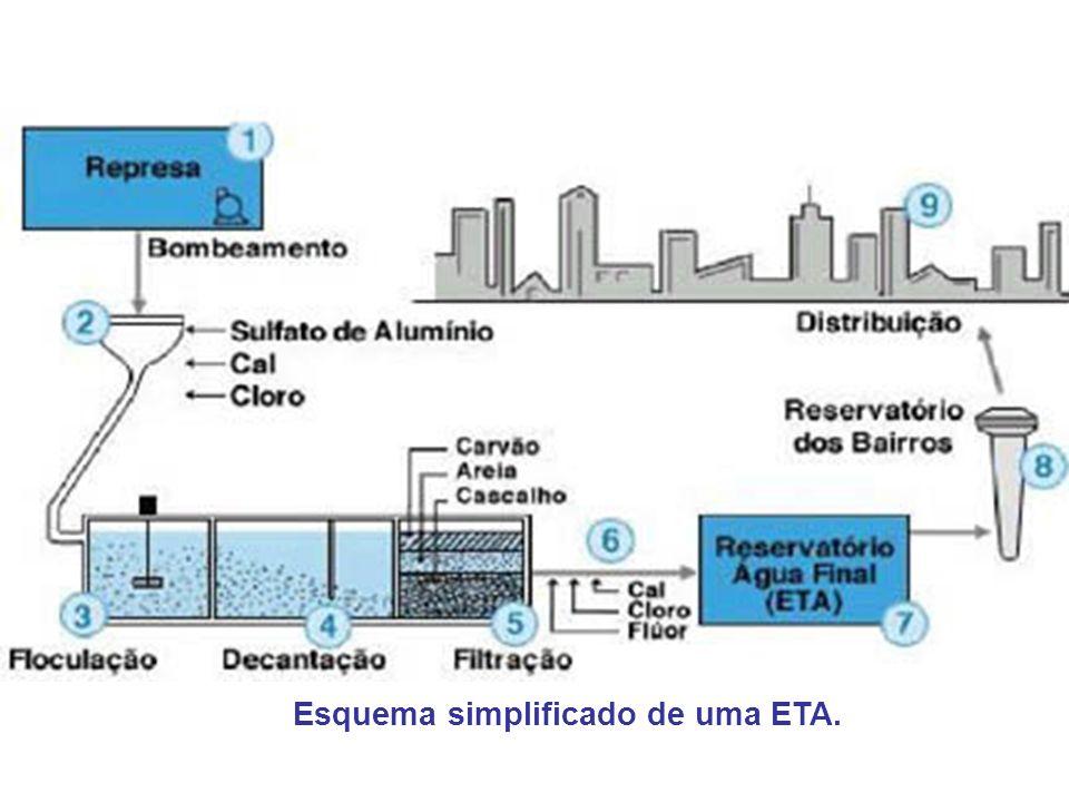 Esquema simplificado de uma ETA.