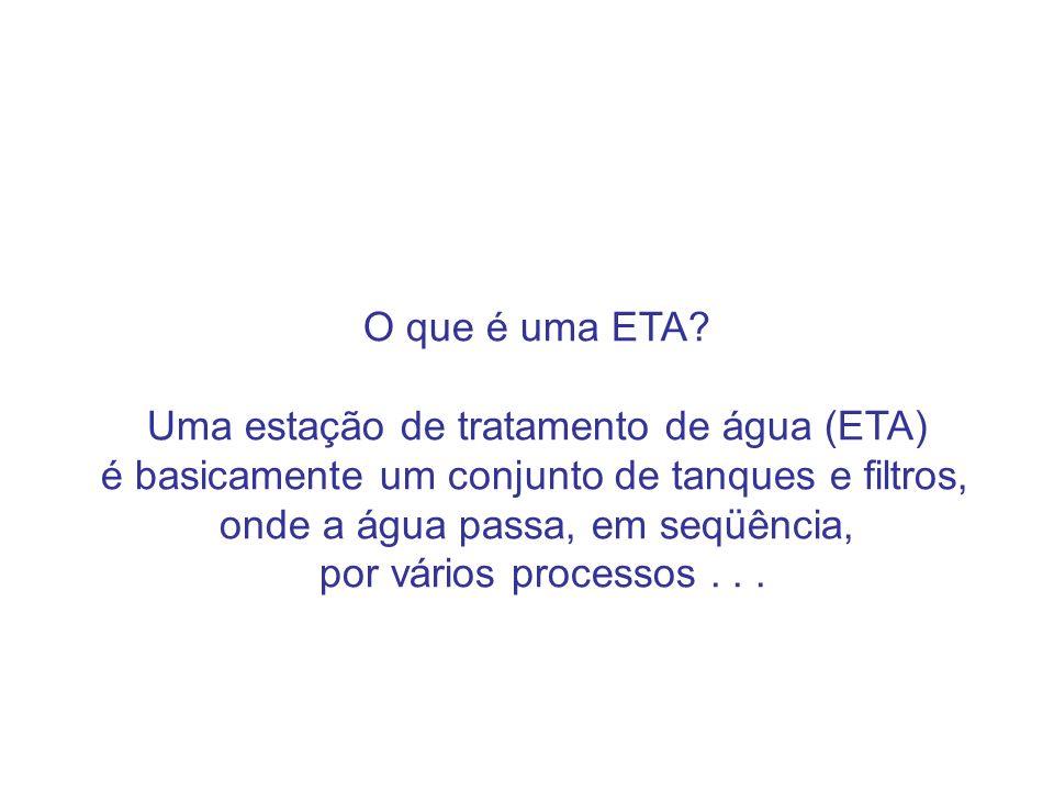 O que é uma ETA Uma estação de tratamento de água (ETA)