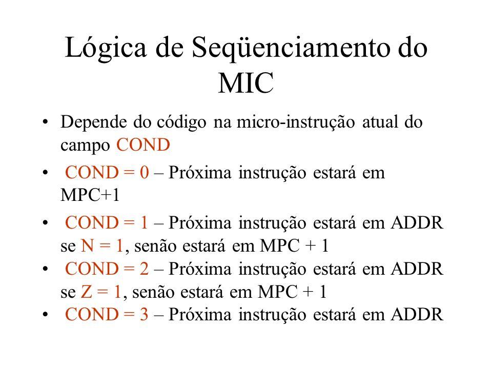 Lógica de Seqüenciamento do MIC