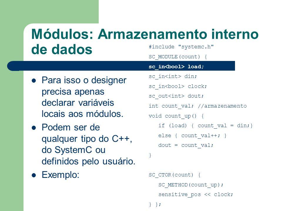 Módulos: Armazenamento interno de dados