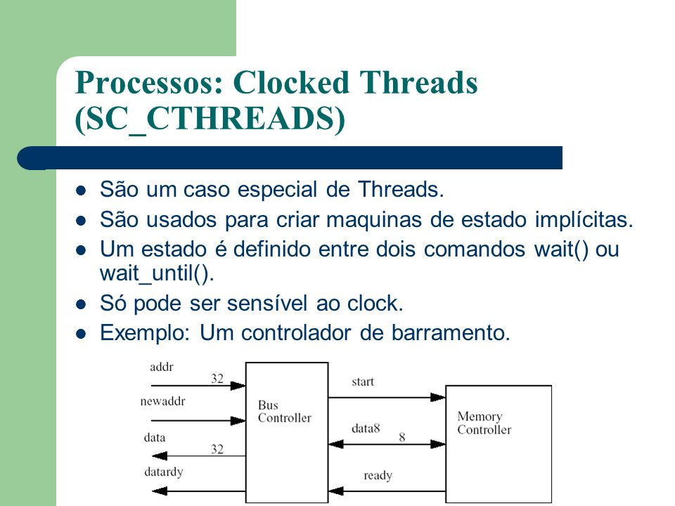 Processos: Clocked Threads (SC_CTHREADS)