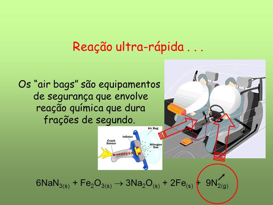 Reação ultra-rápida . . . Os air bags são equipamentos