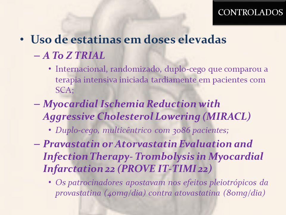 Uso de estatinas em doses elevadas