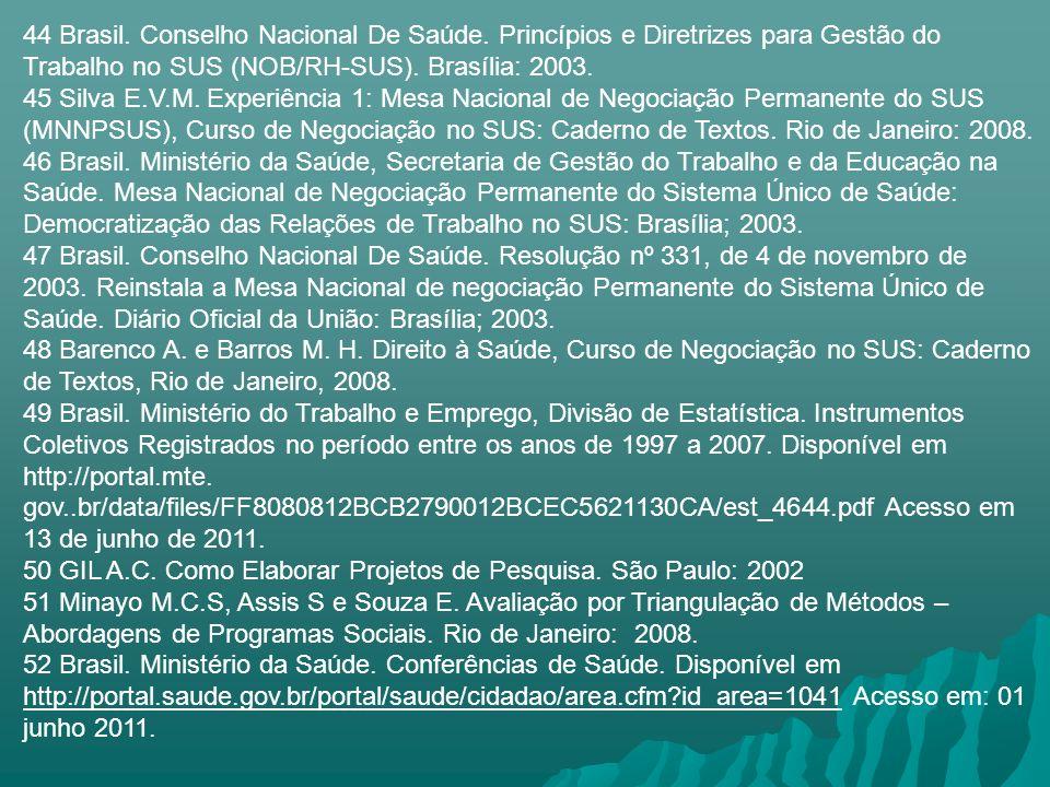 44 Brasil. Conselho Nacional De Saúde