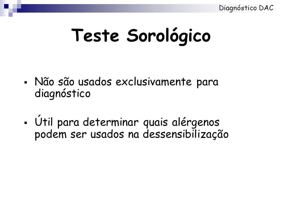 Teste Sorológico Não são usados exclusivamente para diagnóstico
