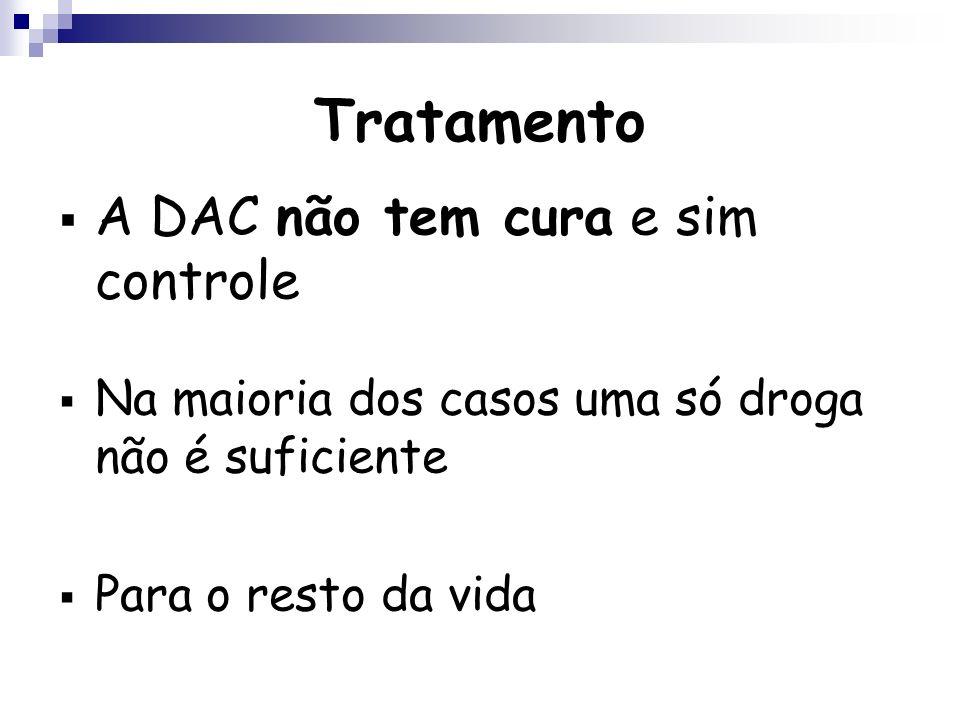 Tratamento A DAC não tem cura e sim controle