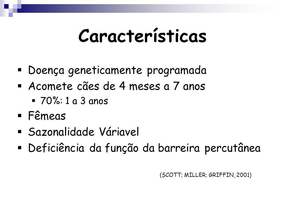 Características Doença geneticamente programada