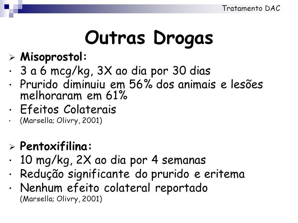 Outras Drogas Misoprostol: 3 a 6 mcg/kg, 3X ao dia por 30 dias