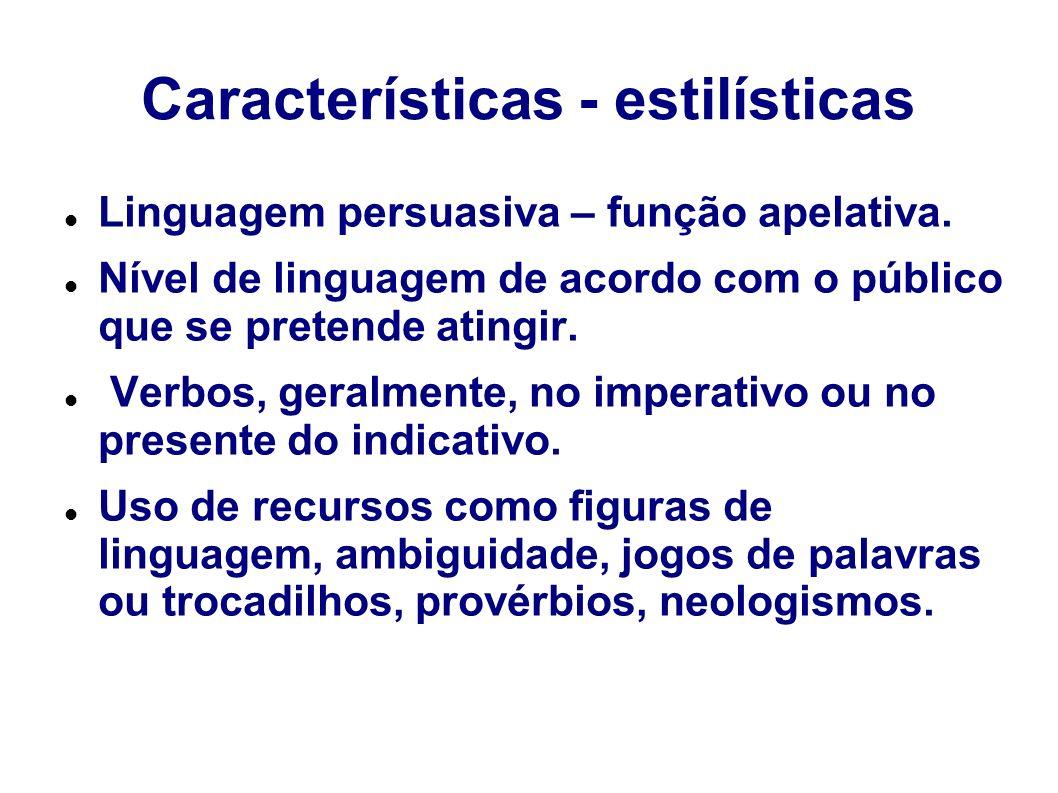 Características - estilísticas