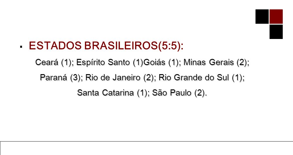 ESTADOS BRASILEIROS(5:5):