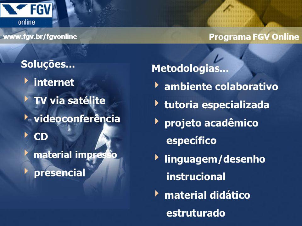  ambiente colaborativo  tutoria especializada  projeto acadêmico