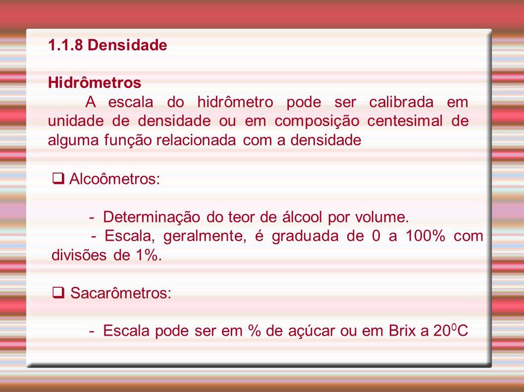 1.1.8 Densidade Hidrômetros.