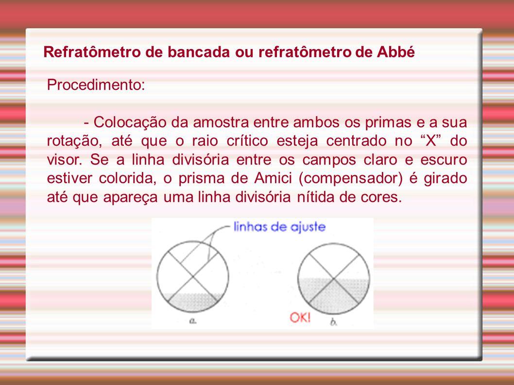 Refratômetro de bancada ou refratômetro de Abbé