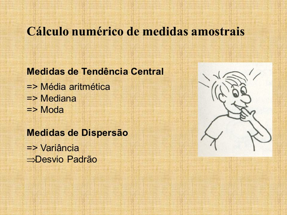 Cálculo numérico de medidas amostrais