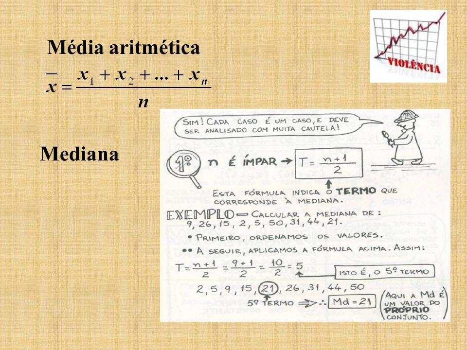 Média aritmética Mediana