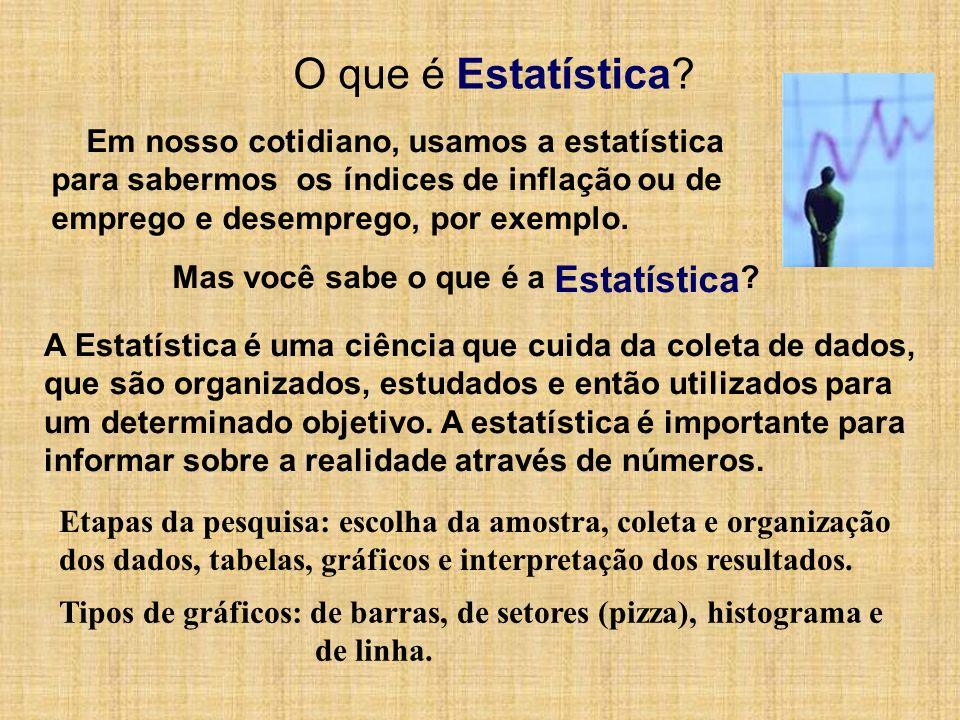 O que é Estatística Em nosso cotidiano, usamos a estatística
