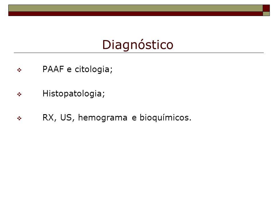 Diagnóstico PAAF e citologia; Histopatologia;
