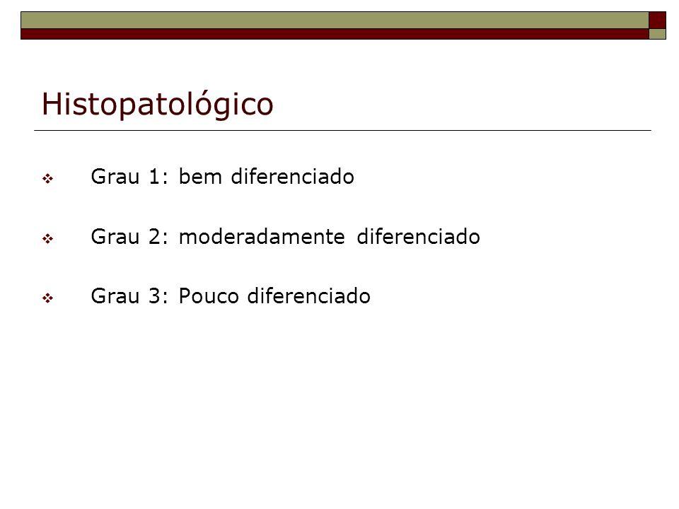 Histopatológico Grau 1: bem diferenciado