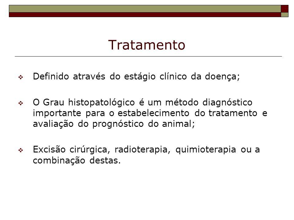 Tratamento Definido através do estágio clínico da doença;