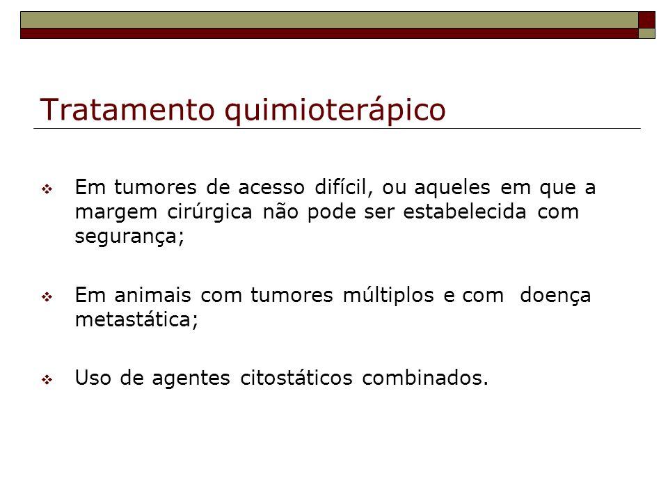 Tratamento quimioterápico