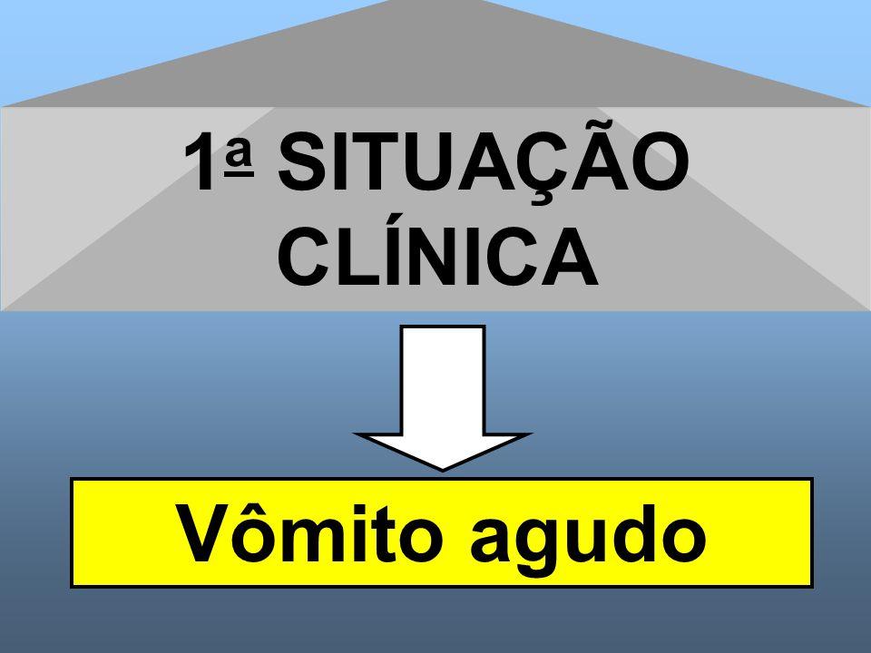 1a SITUAÇÃO CLÍNICA Vômito agudo