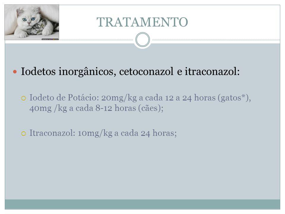 TRATAMENTO Iodetos inorgânicos, cetoconazol e itraconazol: