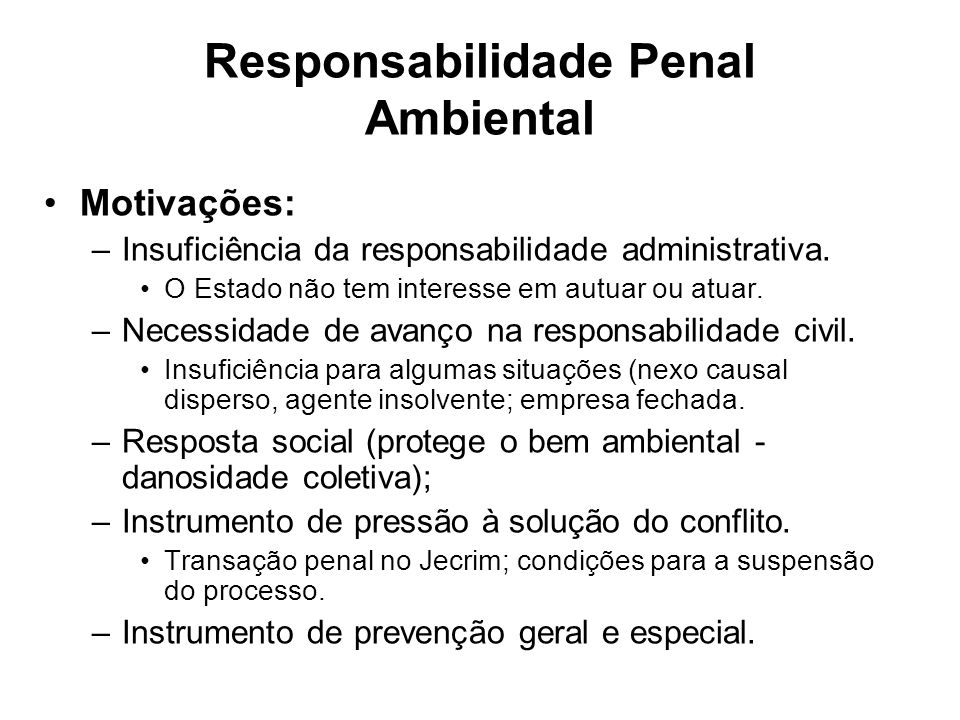 Responsabilidade Penal Ambiental