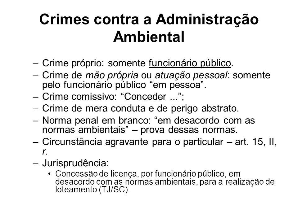 Crimes contra a Administração Ambiental