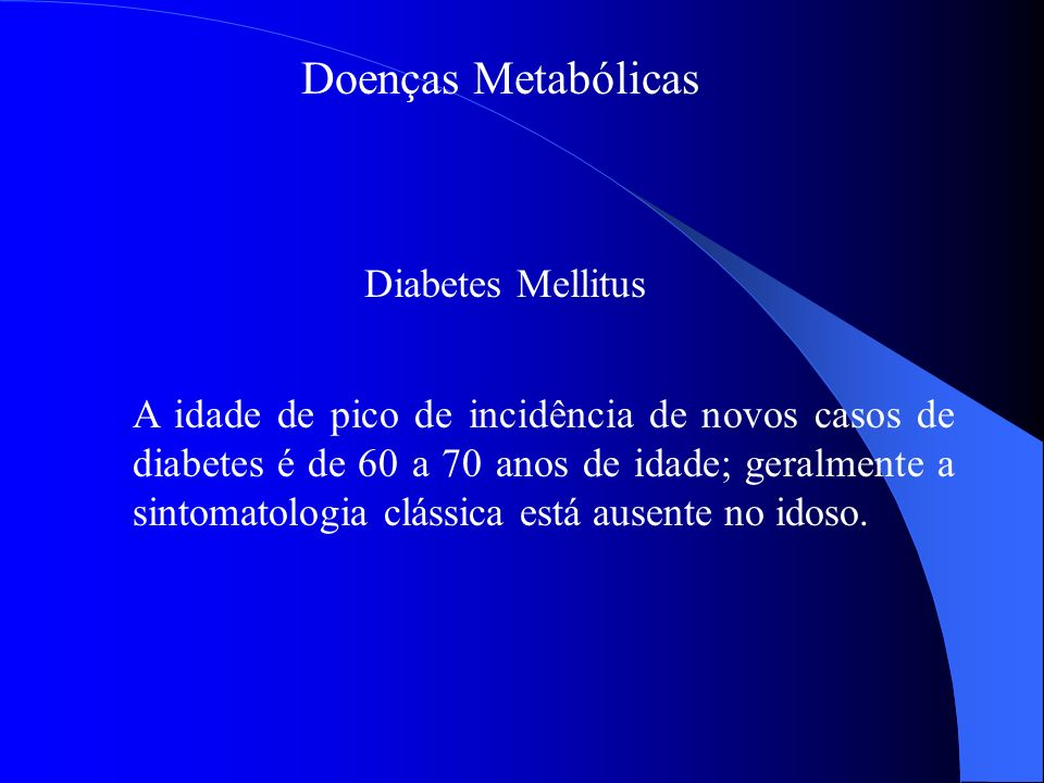 Doenças Metabólicas Diabetes Mellitus