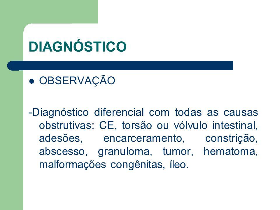 DIAGNÓSTICO OBSERVAÇÃO
