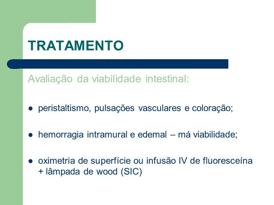 TRATAMENTO Avaliação da viabilidade intestinal: