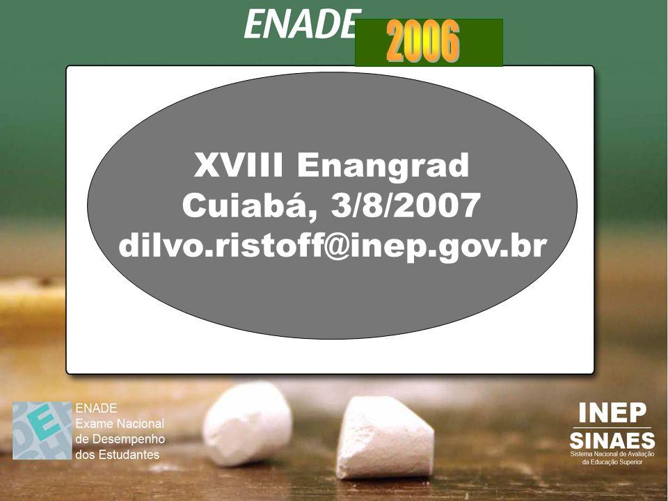XVIII Enangrad Cuiabá, 3/8/2007 dilvo.ristoff@inep.gov.br