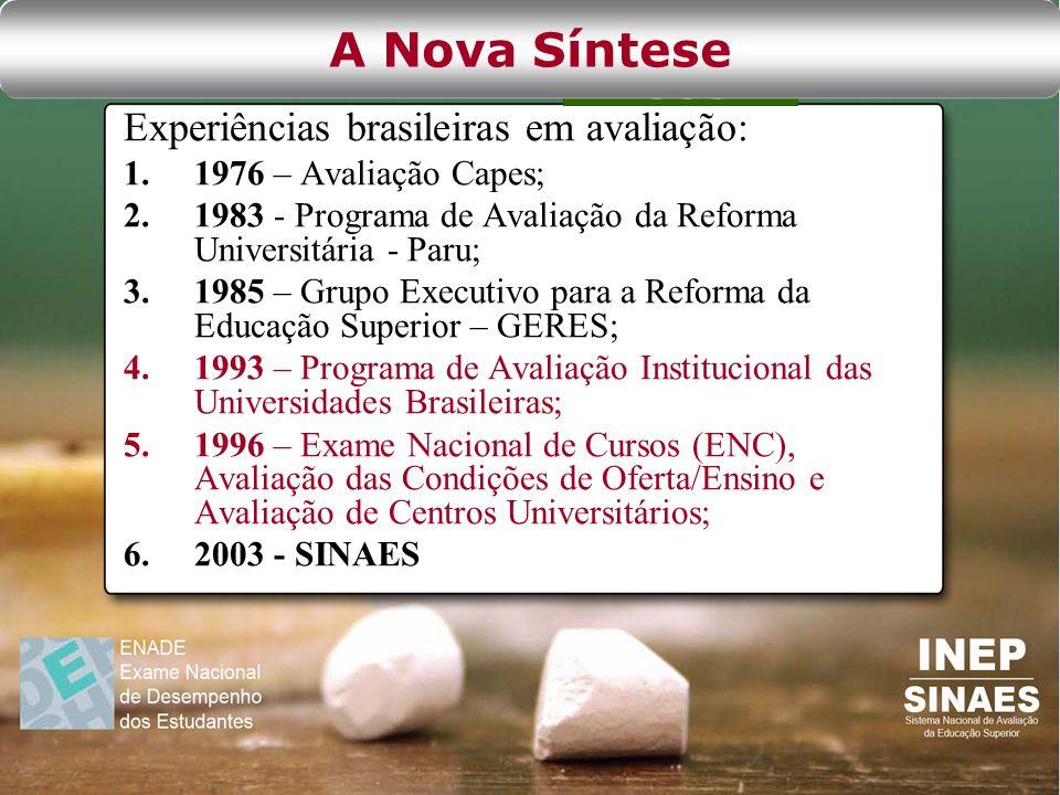 A Nova Síntese Experiências brasileiras em avaliação: